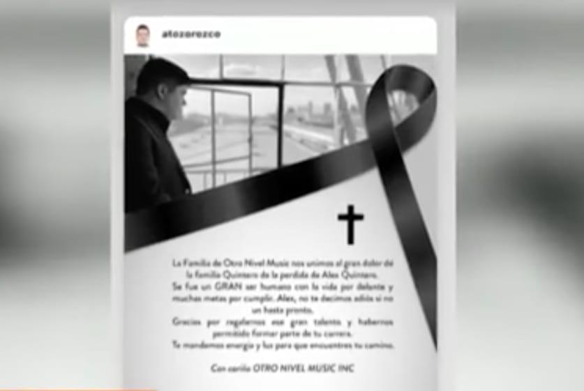 Alex Quintero muerte