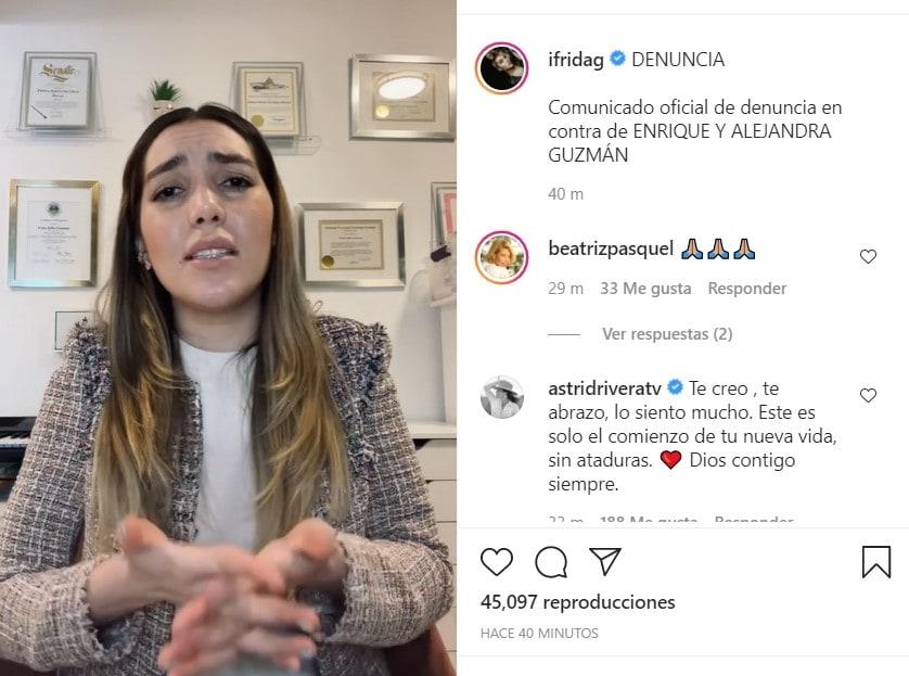 Frida Sofía Moctezuma confirms that she will file a lawsuit against Enrique and Alejandra Guzmán