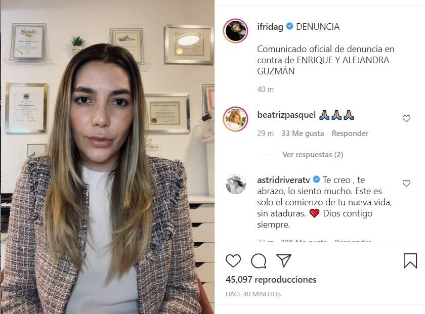 Frida Sofía Moctezuma confirma que presentará demanda contra Enrique y Alejandra Guzmán