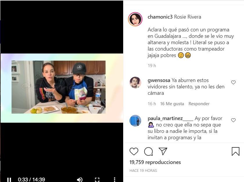 Rosie Rivera 'saca las uñas' por su sobrina Chiquis Rivera, aunque ella no le habla actualmente