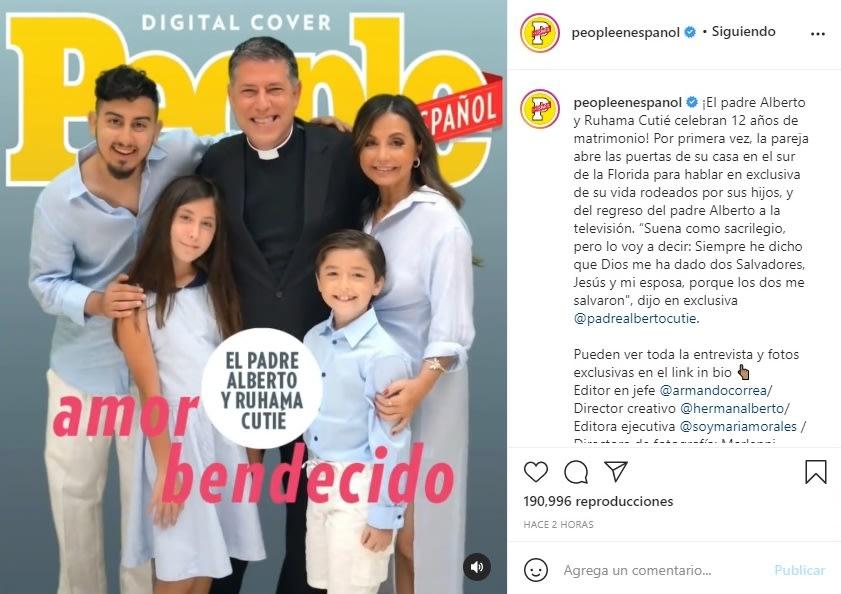Padre Alberto Cutié hijos esposa Ruhama