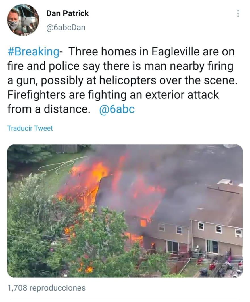 Tiroteo Incendio Pensilvania