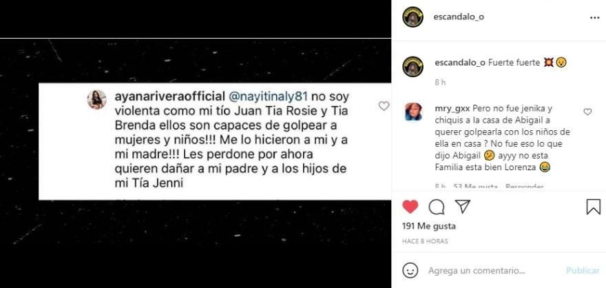Rosie Rivera acusaciones Ayana 2