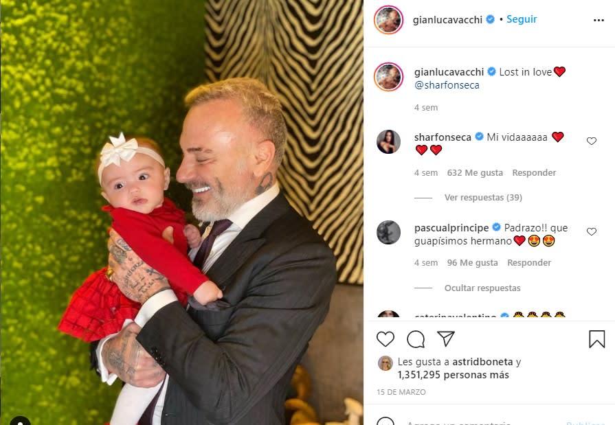 Gianluca Vacchi comparte desgarradora foto junto a su hija tras cirugía