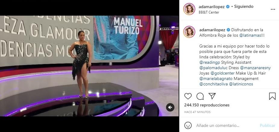 Adamari López alfombra roja Latin American Music Awards