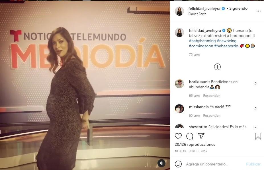 Felicidad Aveleyra embarazo hijo conductora de Telemundo 4