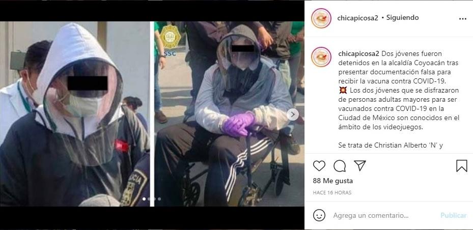 Aida Pierce hijo detenido Rubén vacuna coronavirus 3