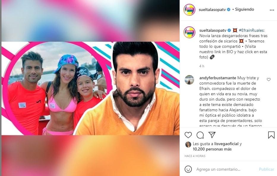 Novia Efraín Ruales mensaje Alejandra Jaramillo
