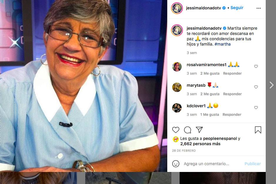 A la muerte del papá de Jessica Maldonado, la reportera de Al Rojo Vivo le sumó en días pasados la de Martica la del Café