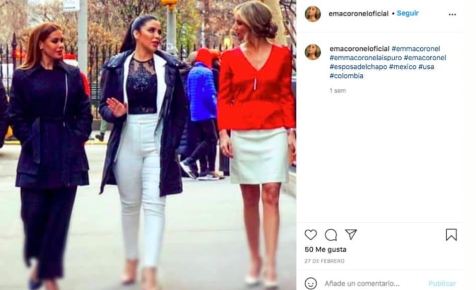 Emma Coronel, esposa del Chapo en blusa transparente (Instagram)