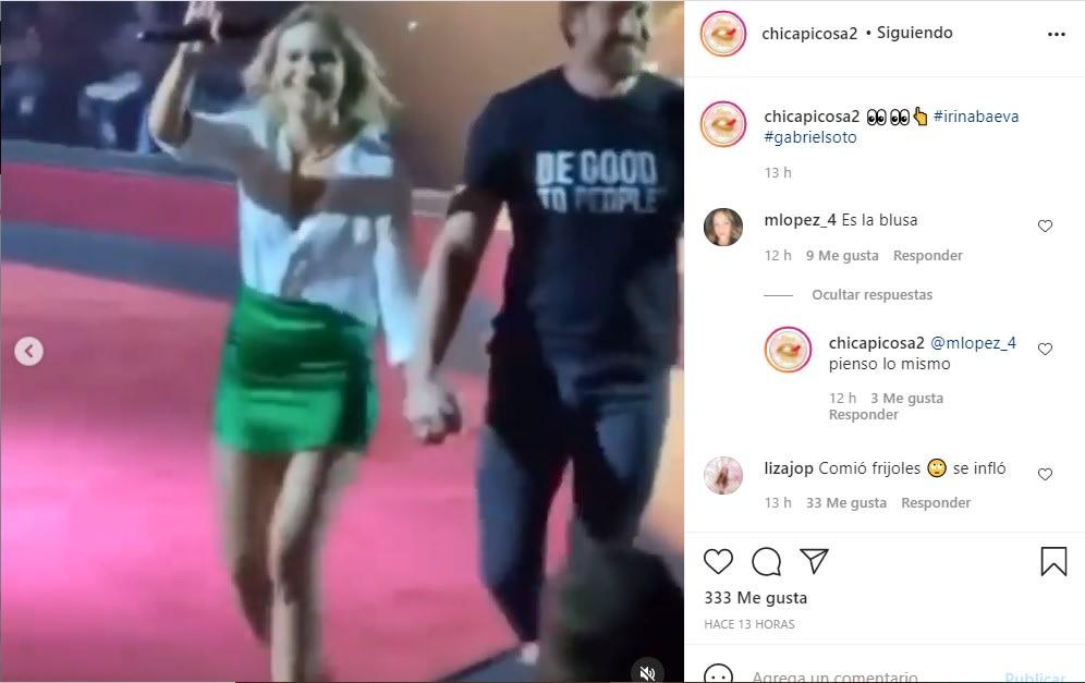 ¿Embarazada?, circula video de Irina Baeva con el vientre abultado
