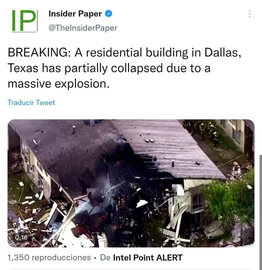 Reportan colapso en Dallas