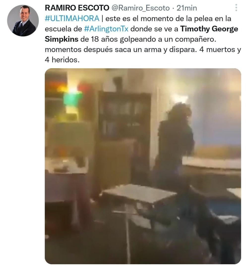 Video muestra el inicio del tiroteo en la escuela