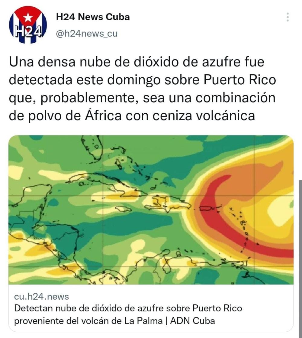 Emiten recomendaciones ante nube de polvo en Puerto Rico