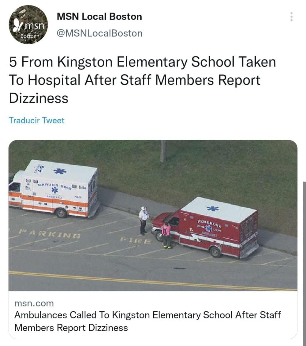 Niños bajo alerta en la escuela primaria de Kingston en Massachusetts
