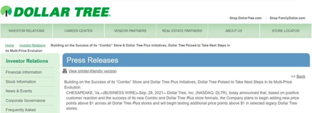 Dollar Tree dólar
