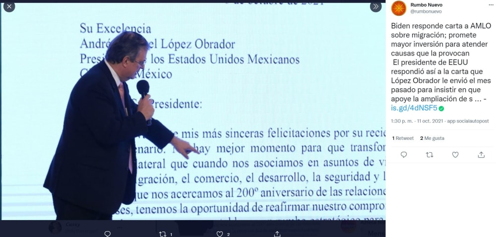 Biden AMLO letter content: Addressing the causes