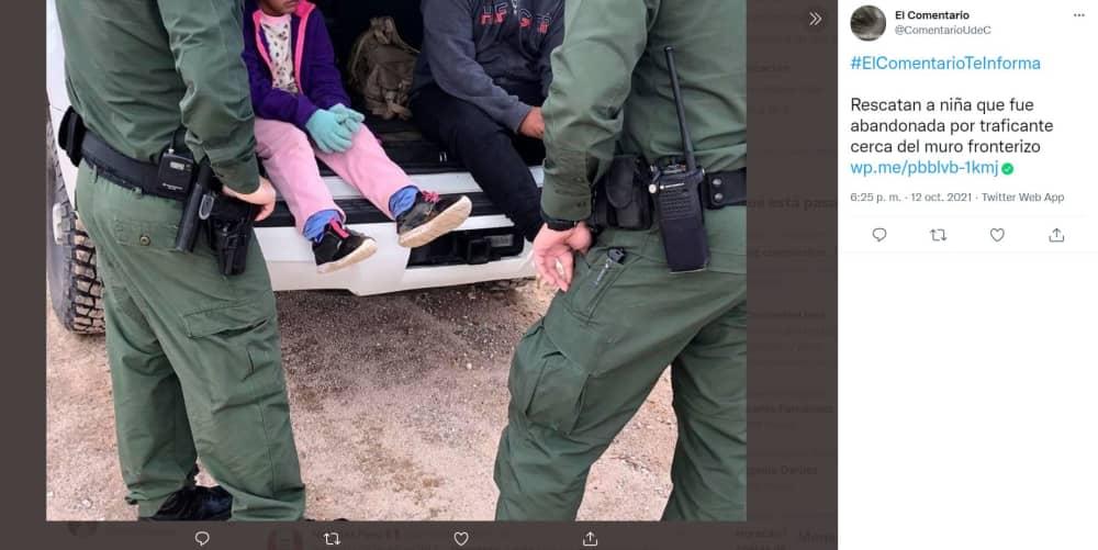Rescatan niña muro fronterizo: SALVAN A MENOR DE EDAD