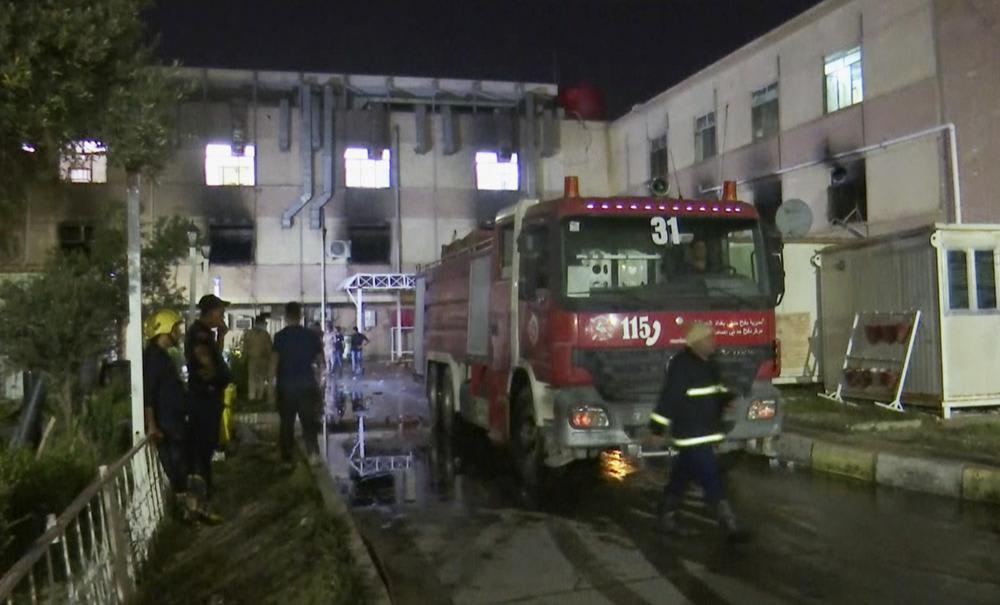 incendio en hospital de Bagdad