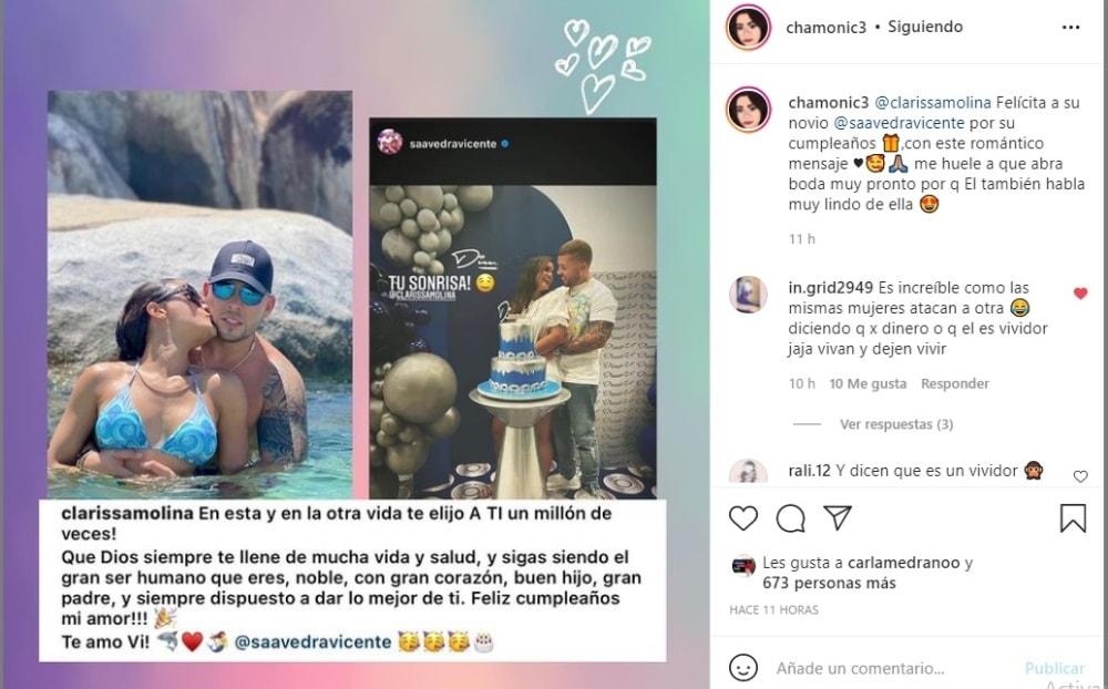 Clarissa Molina cumpleaños novio: Huele a boda
