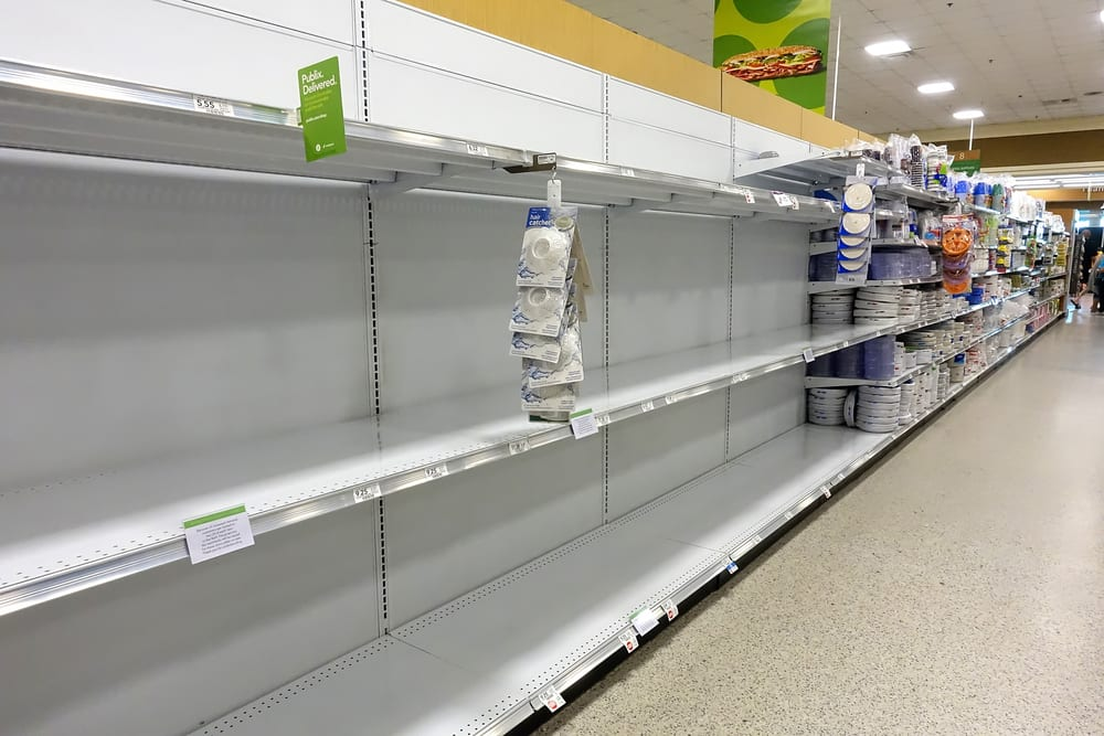 Tiendas en Estados Unidos podrían sufrir escasez de comestibles