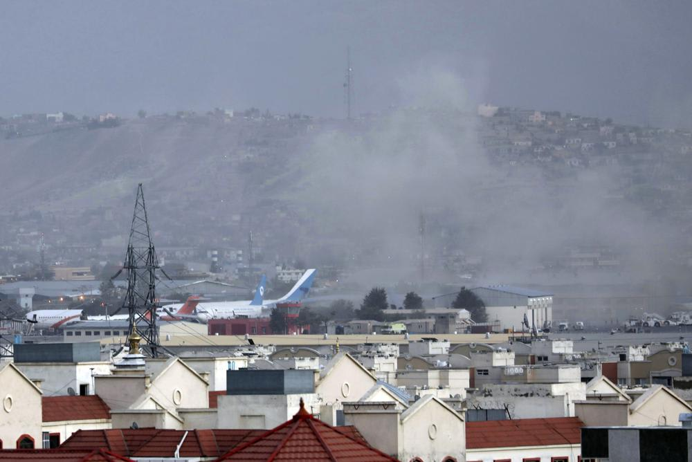 The explosions occurred outside the Kabul airport