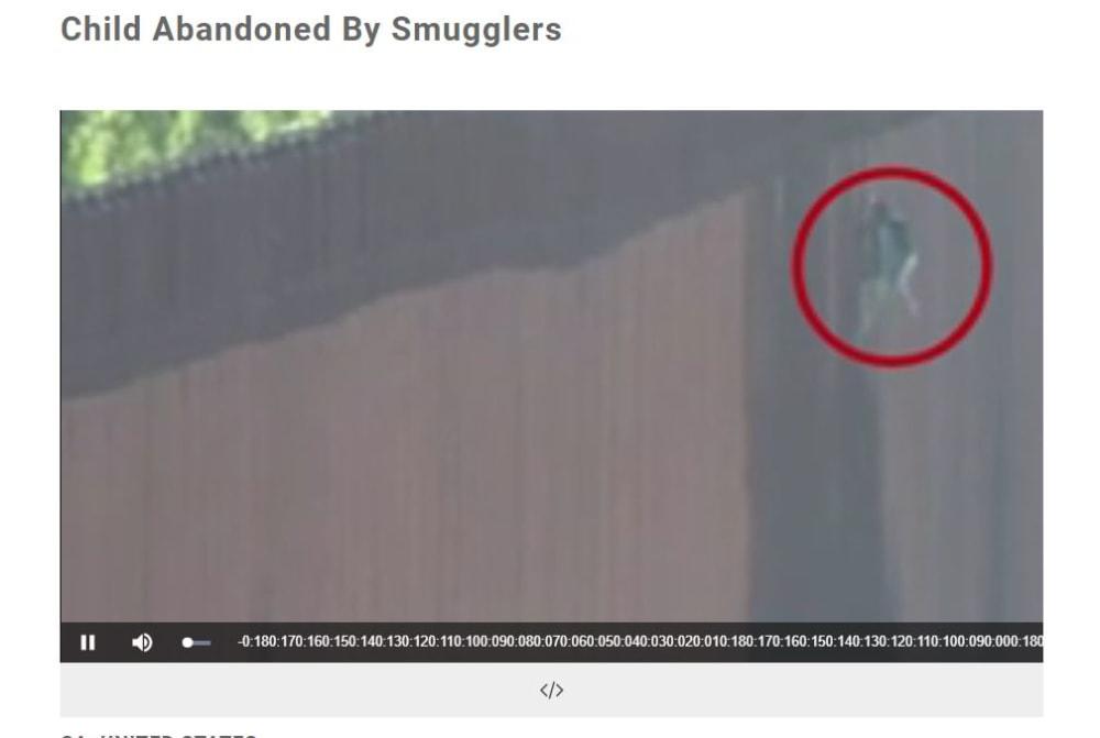 Imágenes niña cruzando frontera: La bajó con una cuerda