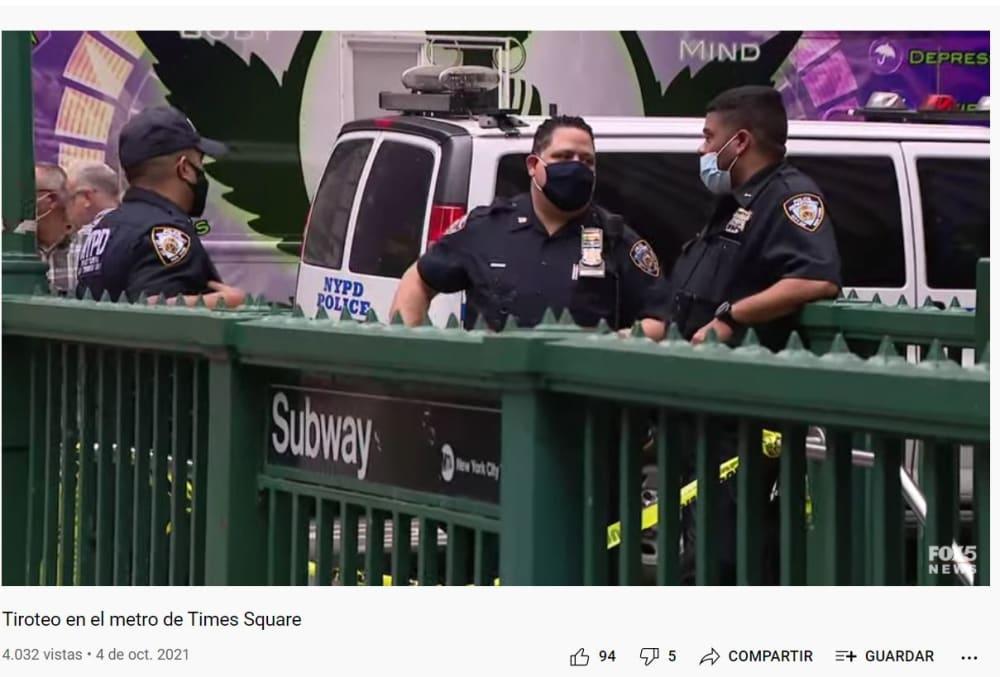 Times Square registra tiroteo: Acordonaron la entrada del metro