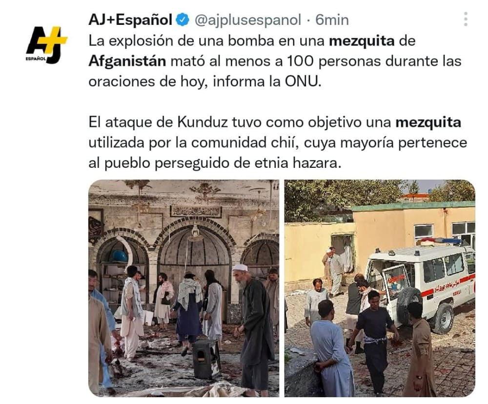 Large number of worshipers killed in Afghanistan mosque attack
