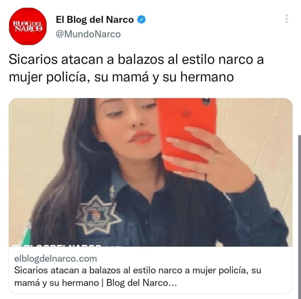 Sicarios atacan a mujer policía junto con su mamá y hermano