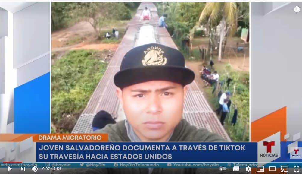 Adonay Santos travesía TikTok 3