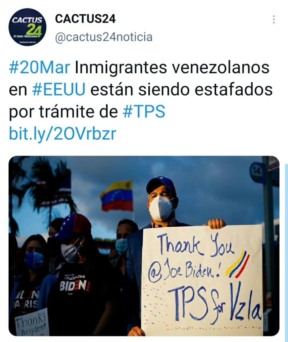 Alertan a inmigrantes venezolanos de estafas al tramitar el TPS