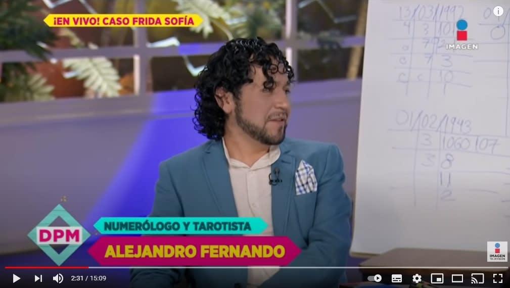 Numerólogo Alejandro Fernando predice futuro familia Guzmán 2
