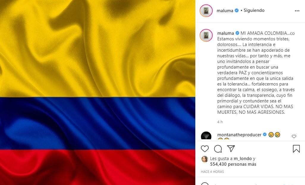 Famosos se unen para pedir por la grave situación en Colombia