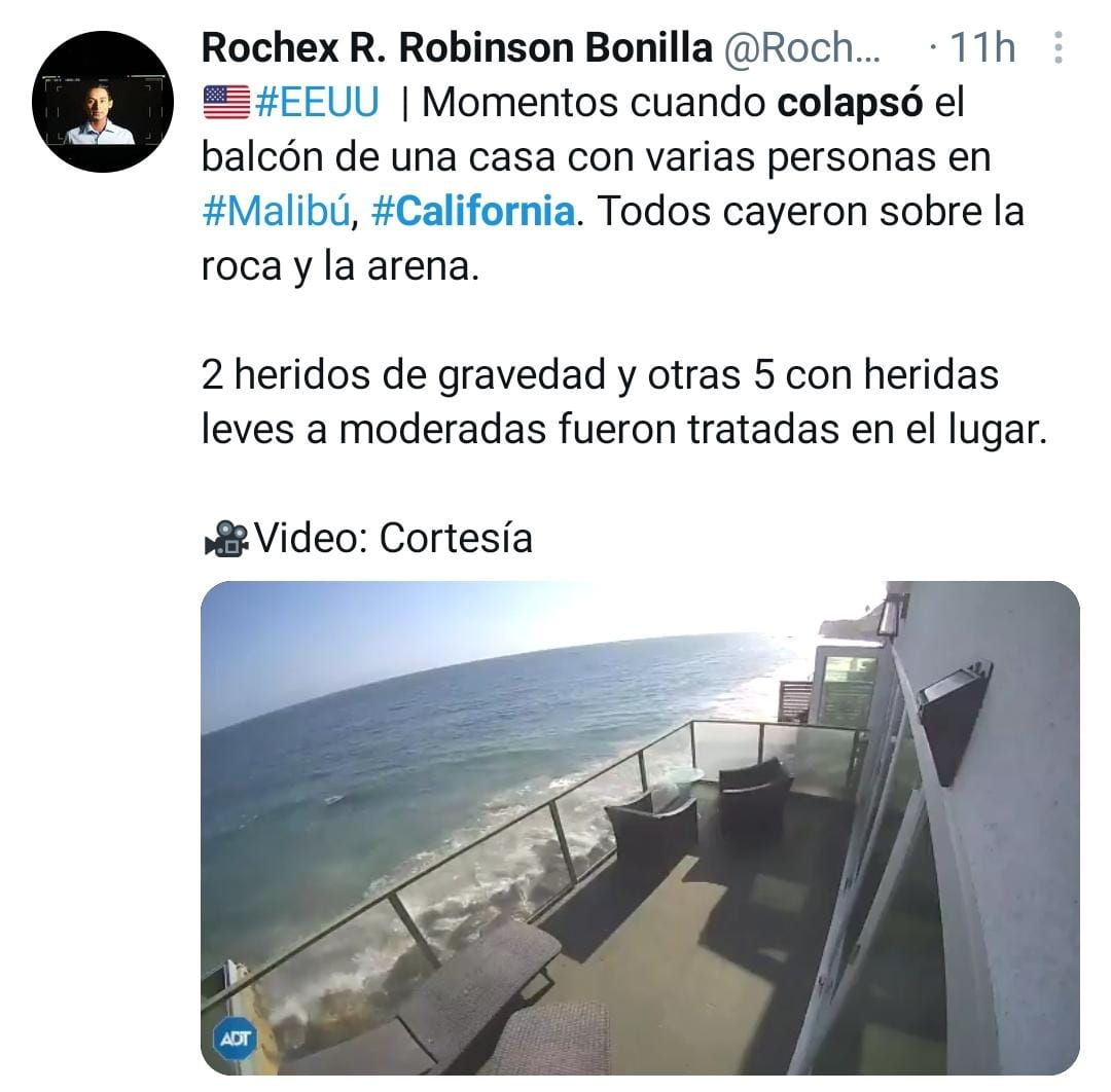 Colapso California, Malibú, BALCÓN
