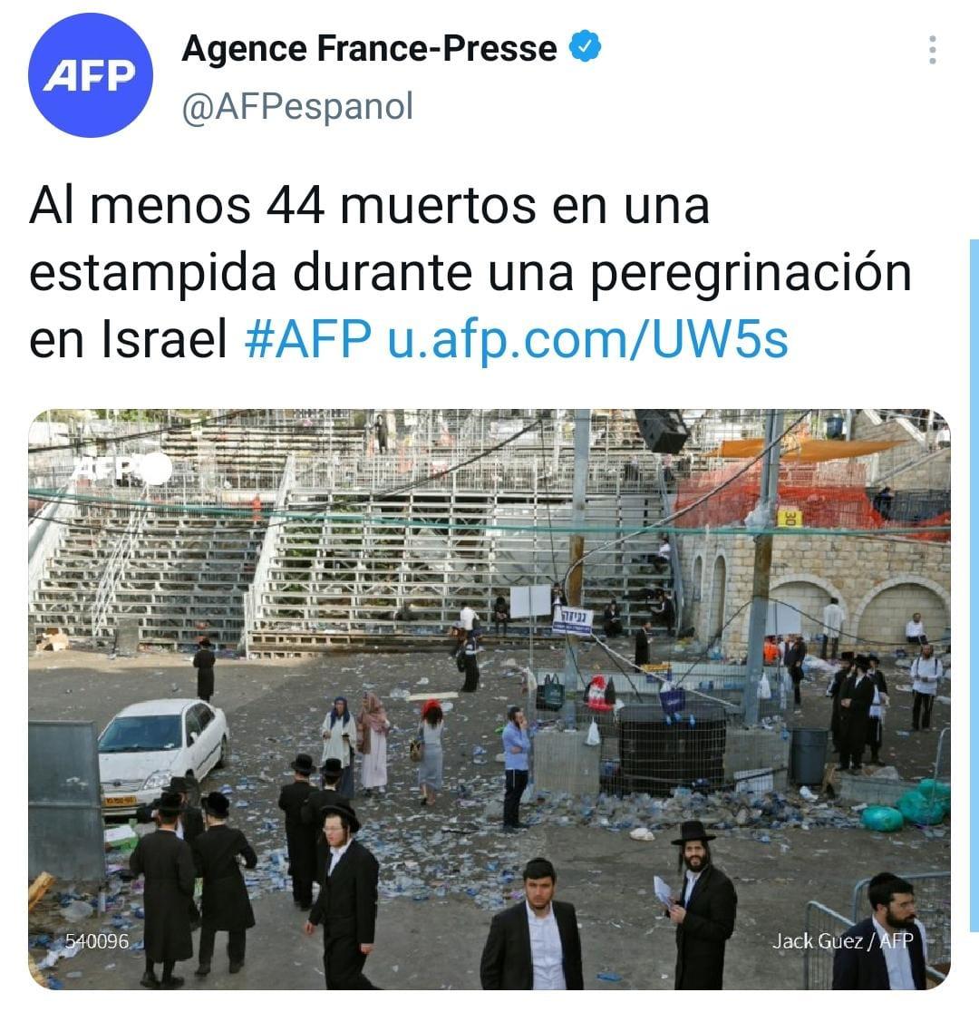 Imágenes estampida Israel