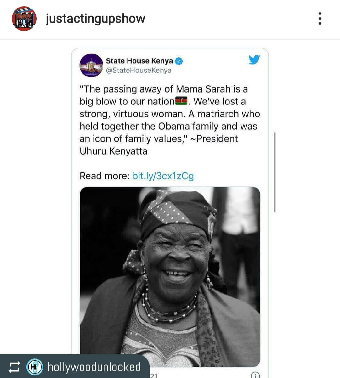Barack Obama mourns the death of his grandmother Mama Sarah