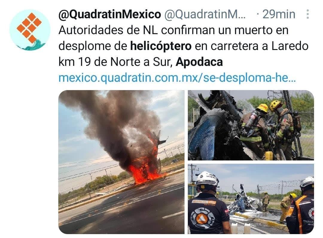 Cae helicóptero Nuevo León 4