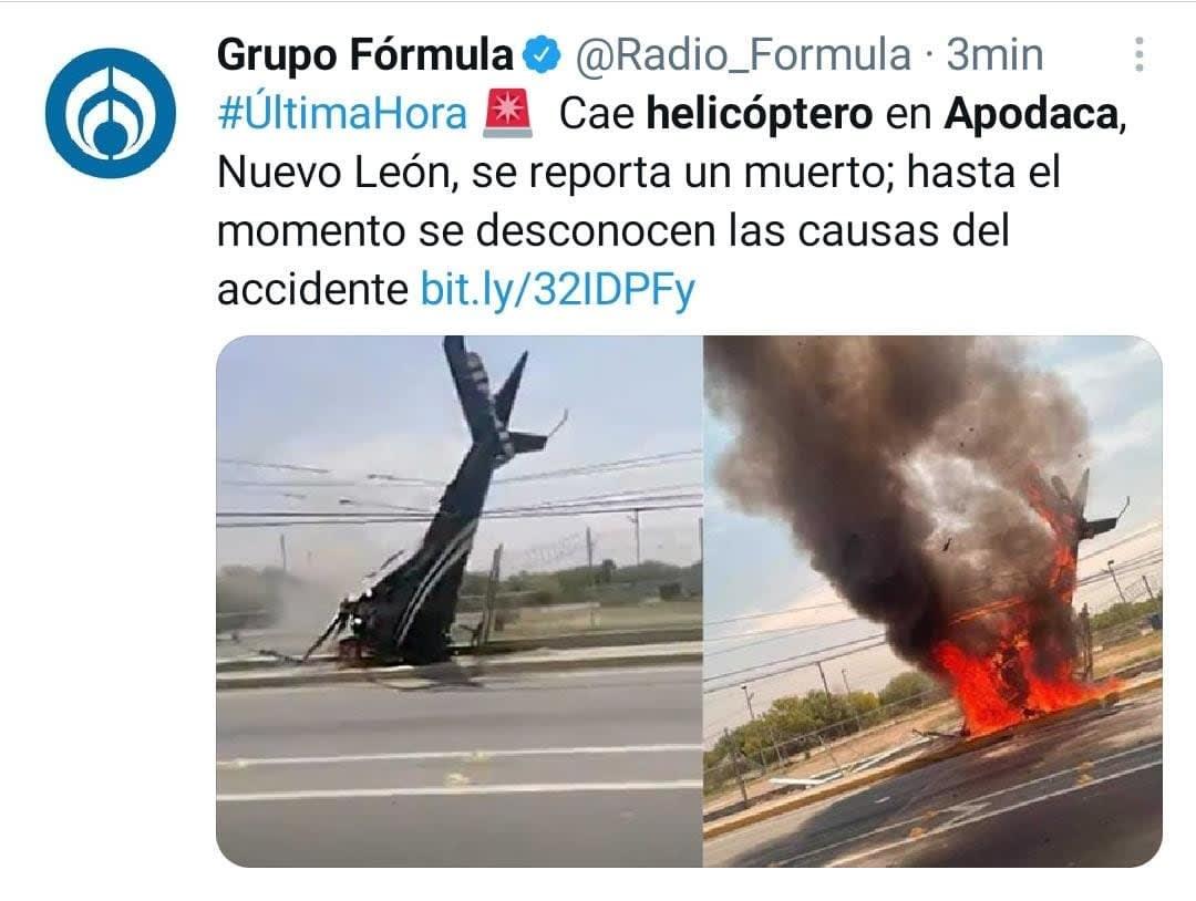 Cae helicóptero Nuevo León 2