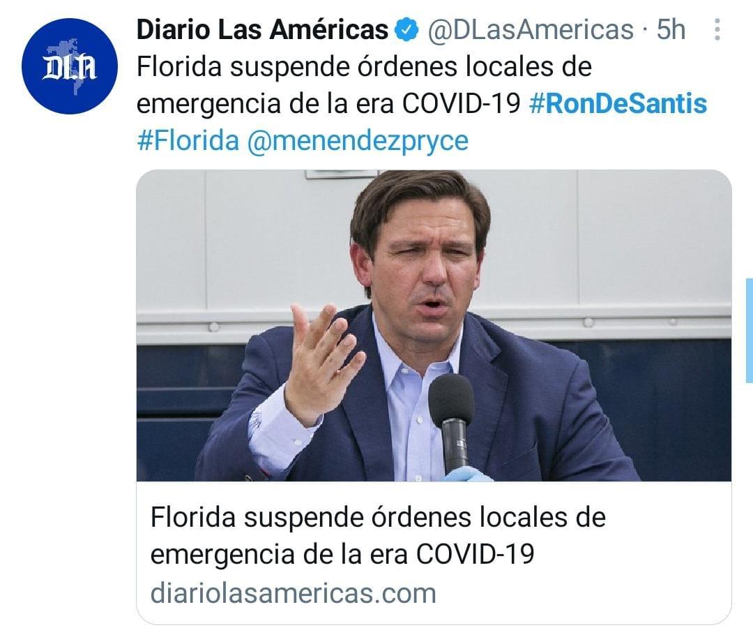 Florida medidas coronavirus, restricciones Ron DeSantis