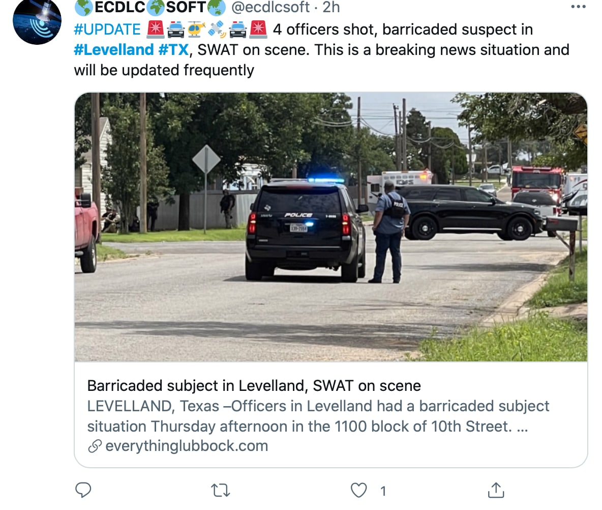 The shooting continues and the streets of Levelland have been closed