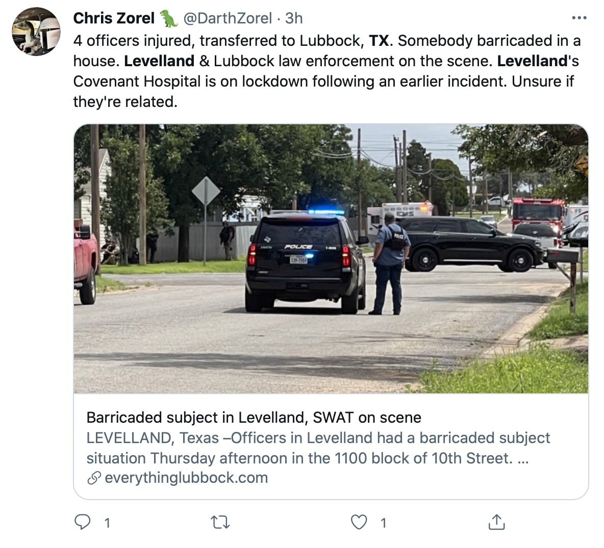 As a precaution, a nearby hospital is closed due to the shooting