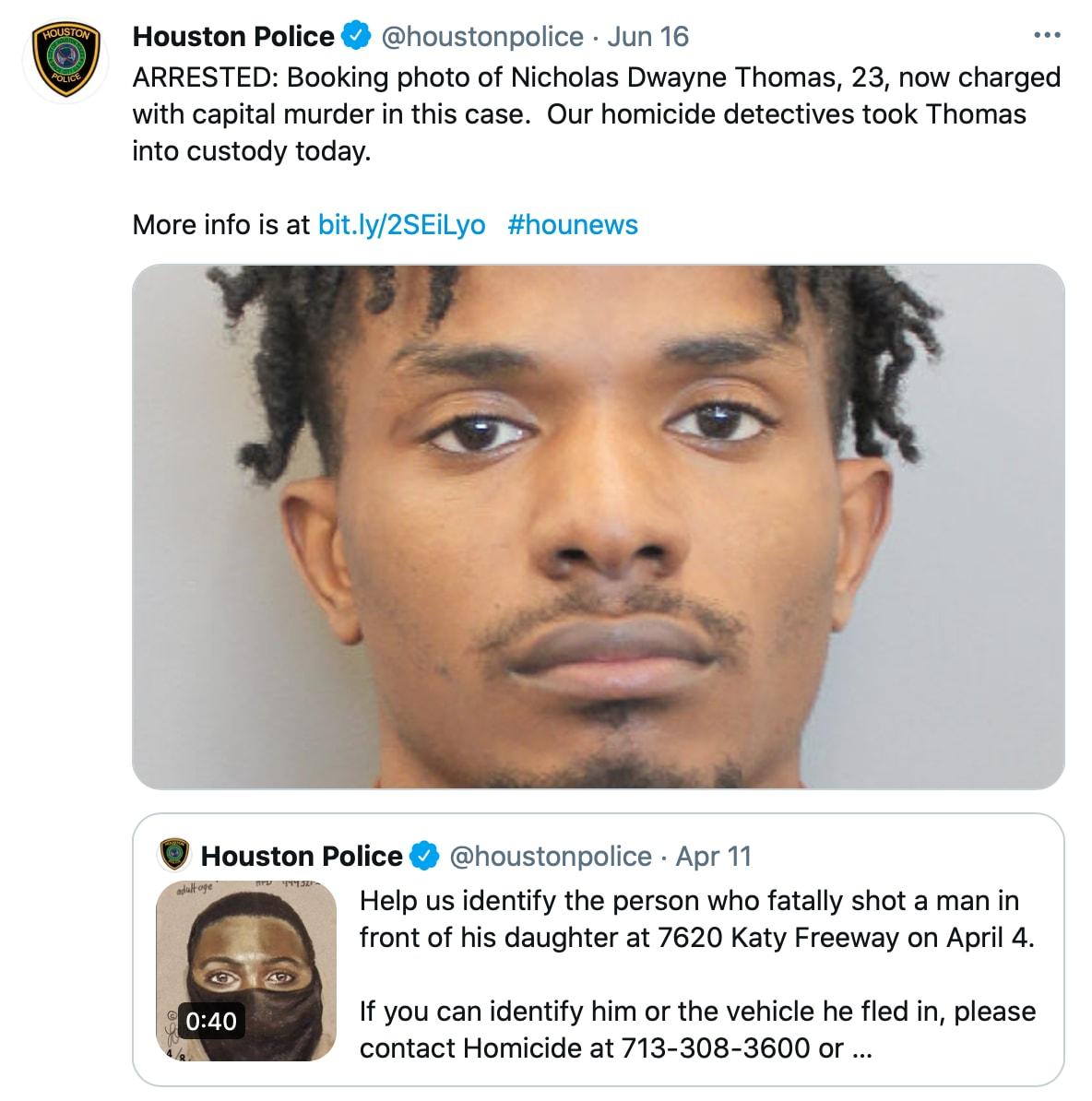 La policía de Houston arrestó al afroamericano