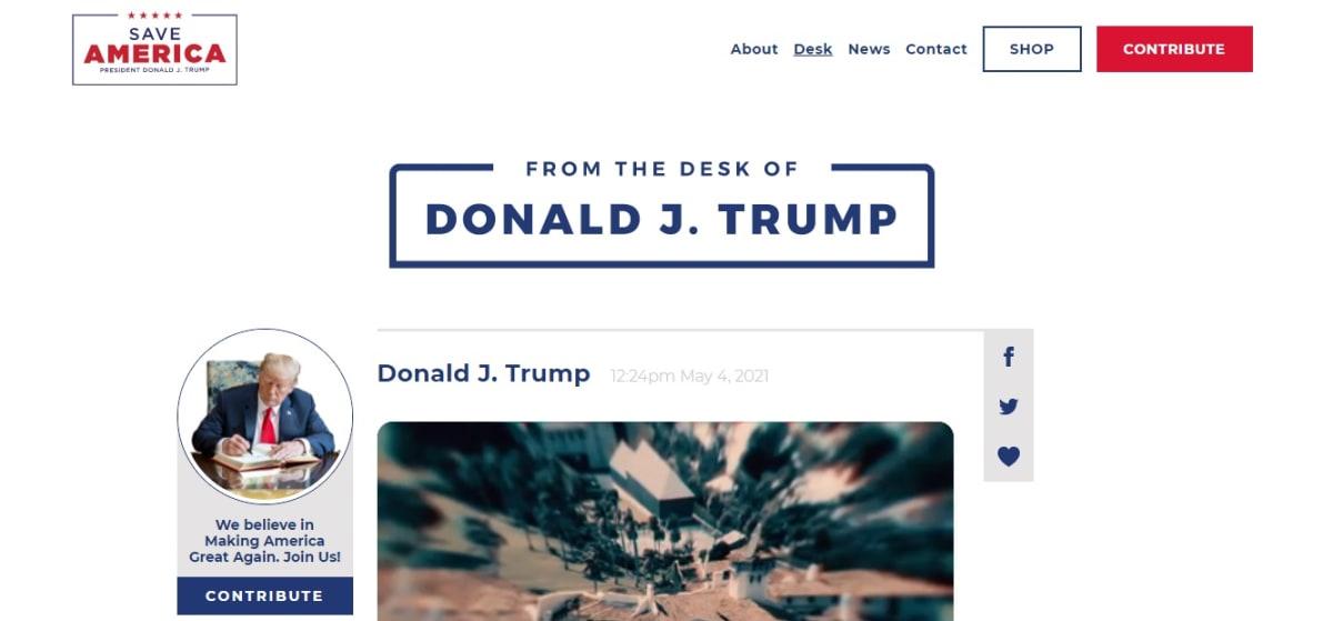 Trump lanza su propia plataforma digital, luego de ser vetado en redes sociales