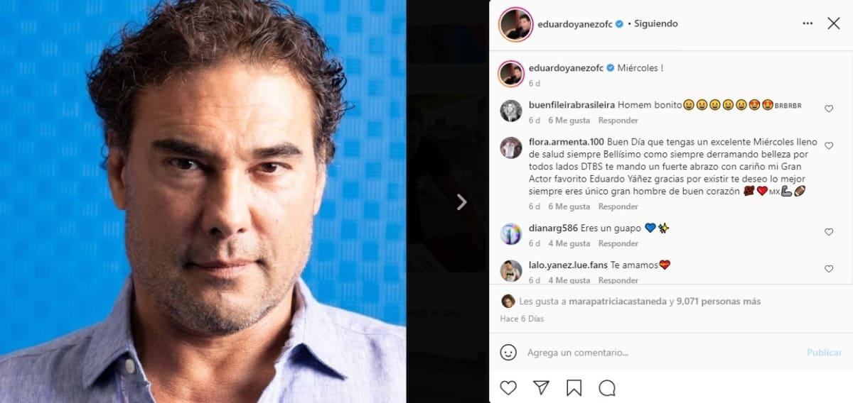 """""""Estoy sano"""", dice Eduardo Yáñez tras rumores de su salud"""