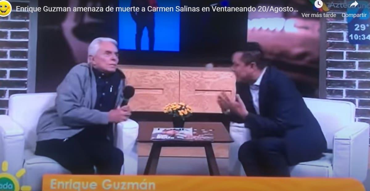 Famosa actriz mexicana recuerda que Enrique Guzmán la amenazó de muerte