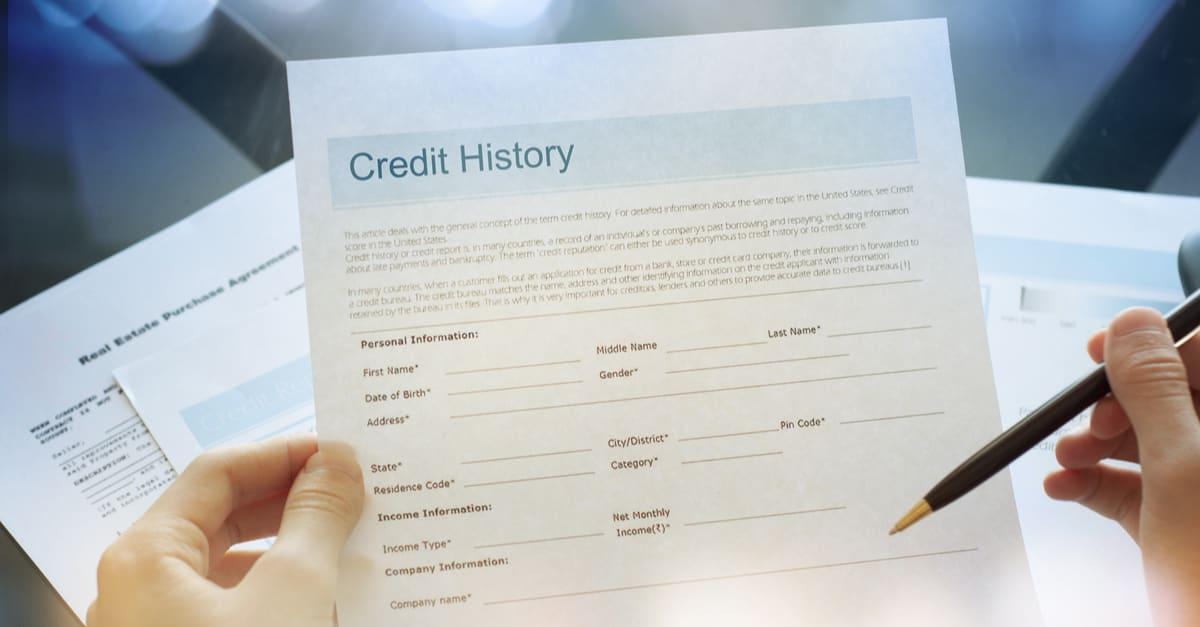 Credit report concept crédito