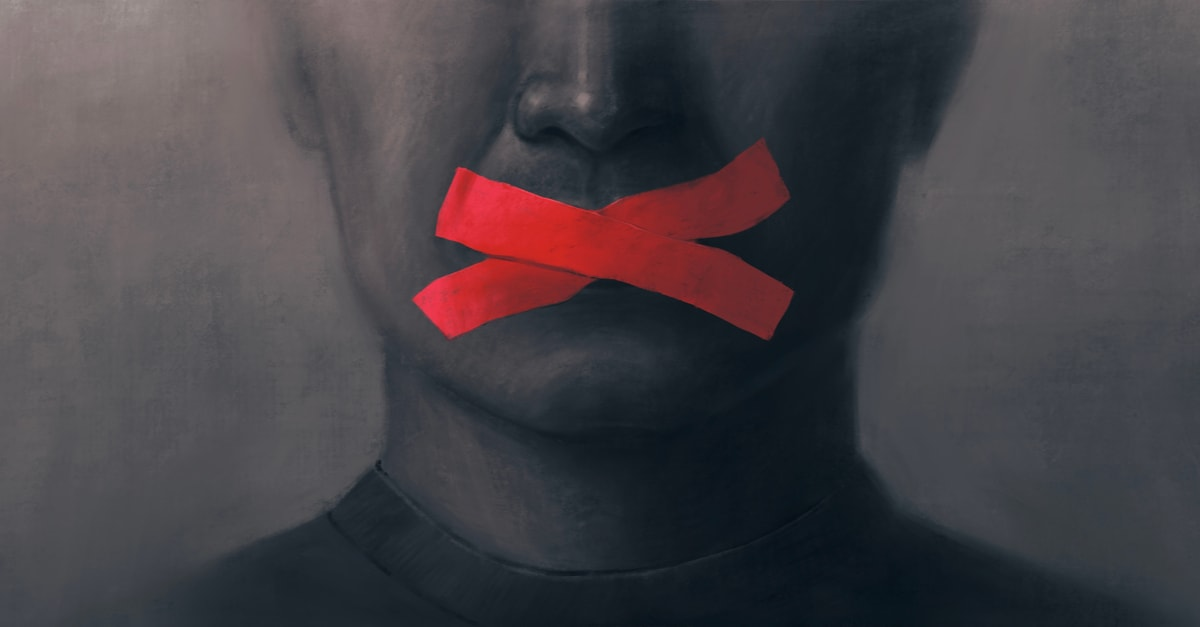 Red ribbon depicted censorship in Tokyo