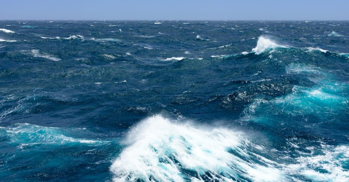 Mar abierto en el área de Florida