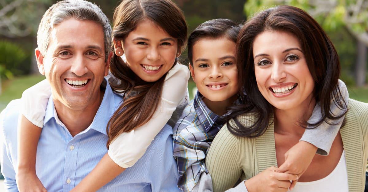 Una familia hispana de Florida